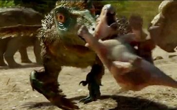 《与恐龙同行》中文日版预告 挑衅厮斗强者生存