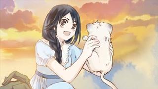 女孩将猫咪带回家