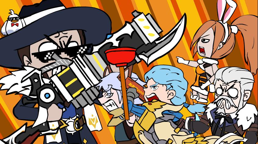 王者荣耀搞笑小动画:激烈的游戏厅战争
