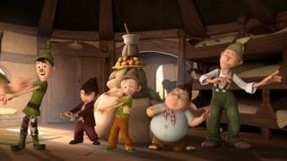 第七个小矮人:小矮人过着简单快乐的生活 分工明确做生日蛋糕