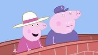 借船出行的佩奇一家 猪爷爷的担心是有道理的