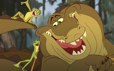 《公主和青蛙》片段 热爱音乐的鳄鱼