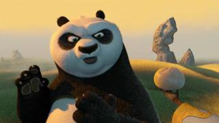用包子炼就的功夫熊猫
