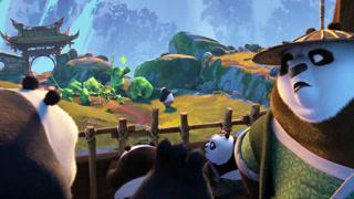 熊猫团队痛打小绿人