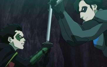 《蝙蝠侠大战罗宾》曝光片段 父子夜斗针锋相对