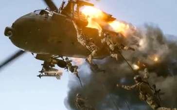 《惊天危机》中文片段 恐怖分子直升机被特工击落