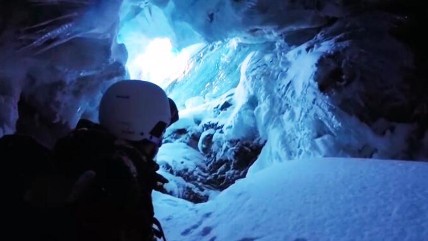 小伙滑雪坠入神秘山洞 攀岩达人遭遇山体崩塌