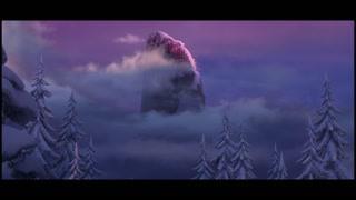 宏伟北山被冰雪覆盖