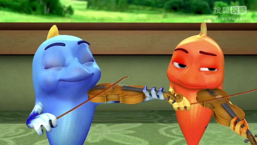 跳跳鱼世界 第十四集 小鸡学小提琴