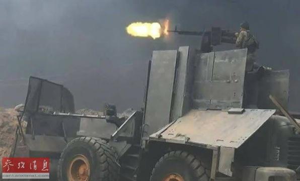 叙利亚自制战车如同末世科幻片场景