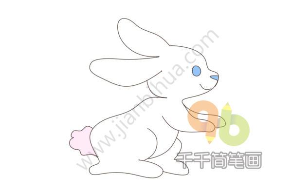 表情 大白兔简笔画 简约型文化普通难度 陆地动物 千千简笔画 表情