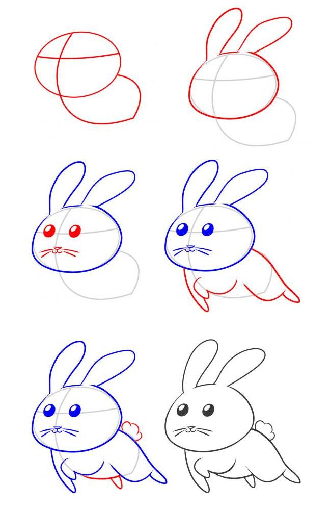 表情 专题 兔子简笔画 简笔画图片大全 育才简笔画 表情