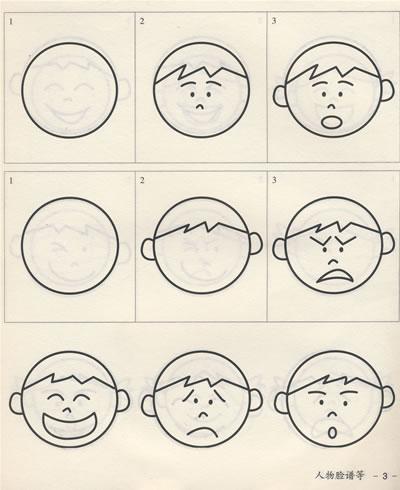 表情 脸谱简笔画中国国旗 三国脸谱简笔画 瓢形脸谱简笔画 脸谱简笔画步骤  表情