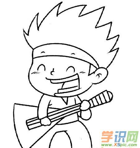 表情 唱歌的小男孩儿简笔画 唱歌的小男孩儿简笔画画法 表情