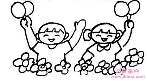 表情 欢庆六一儿童节简笔画图片 简笔画网 表情