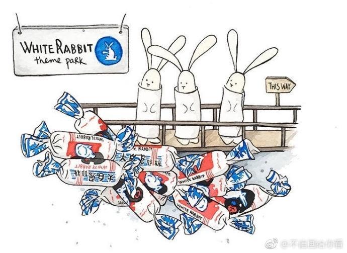 表情 一组大白兔奶糖简笔画 简约型文化普通难度 插画 千千简笔画 表情