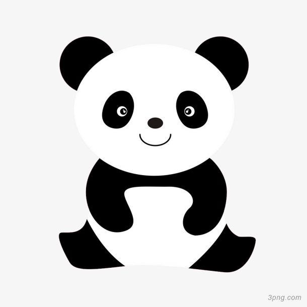 表情 简笔画小熊猫png素材透明免抠图片 动植人物 三元素3png.com 表情