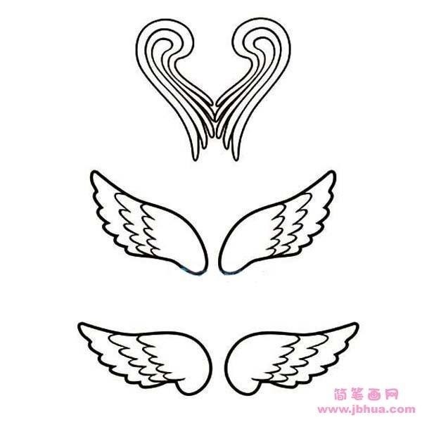表情 各种天使翅膀简笔画图片大全 简笔画网 表情
