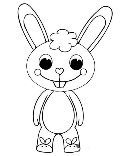 表情 超级可爱的小白兔简笔画图片 小白兔简笔画 亲子简笔画大全 表情