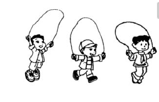 表情 人物简笔画图片大全 我来跳绳 2 5068儿童网 表情