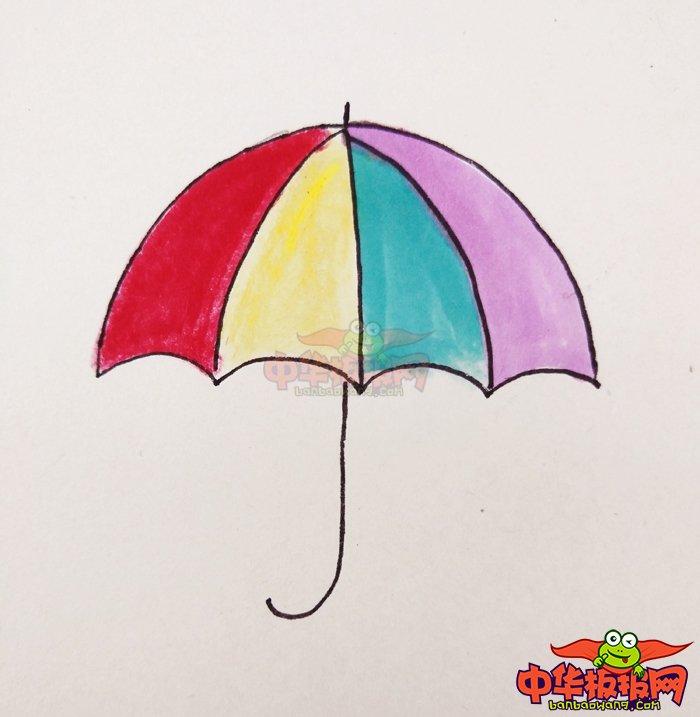表情 漂亮的雨伞怎么画,雨伞的画法简笔画图片 中华板报网 表情