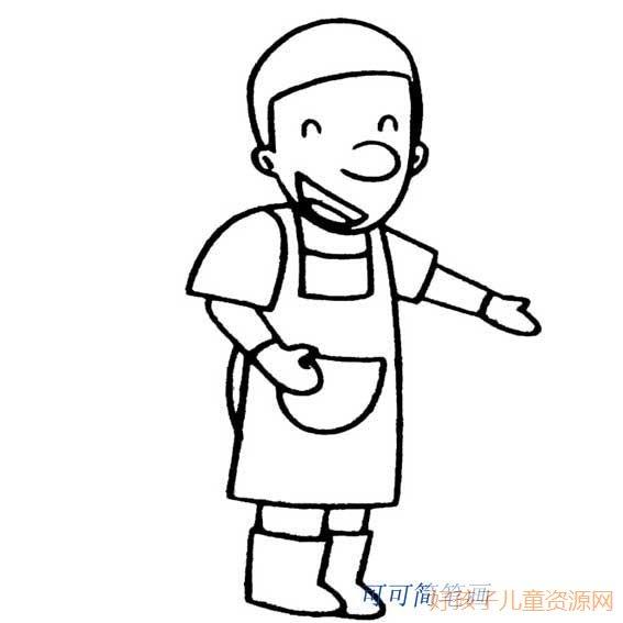 表情 爸爸的简笔画,爸爸的的简笔画画法 人物简笔画 ertongzy.com 表