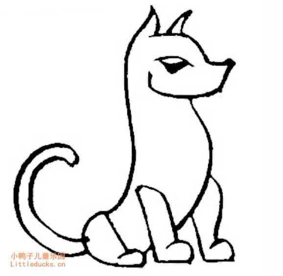 表情 幼儿简笔画图片大全 可爱的卡通小狗简笔画 动物简笔画狗