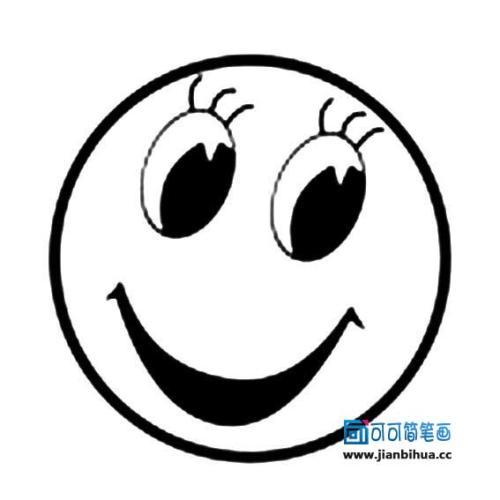 表情 后i向可简笔画 www.jianbihua.cc 表情