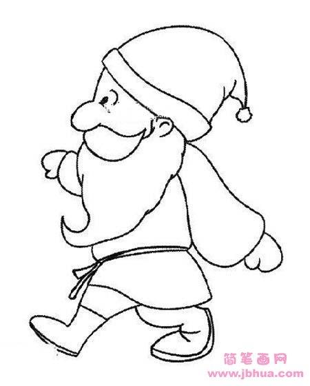 表情 小学生圣诞老人正面简笔画图片 简笔画网 表情