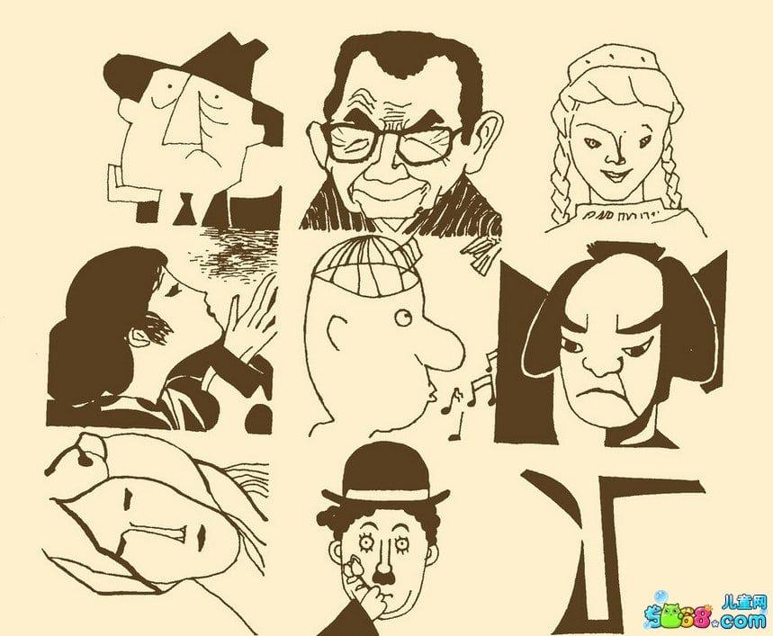 表情 人物面部表情简笔画 人物创意面部表情 就要健康网 表情