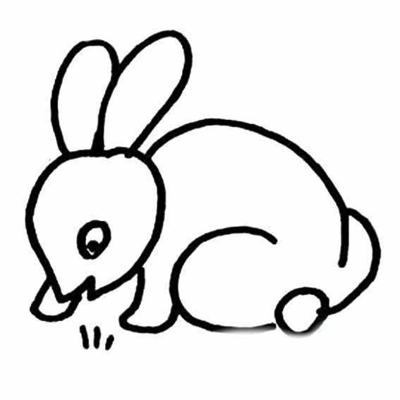 表情 小兔子简笔画 画小兔子吃草的简笔画 育才简笔画 表情