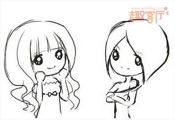 表情 可爱萌女孩简笔画呆萌简笔画可爱表情包 趣客厅 表情