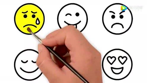 表情 儿童简笔画表情包着色教宝宝画画涂鸦认识颜色 腾讯视频 表情