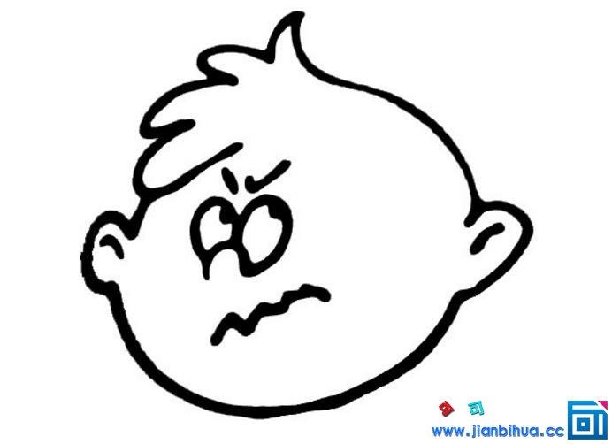 表情 简笔画人物发怒的表情 钱柜手机娱乐官网 表情