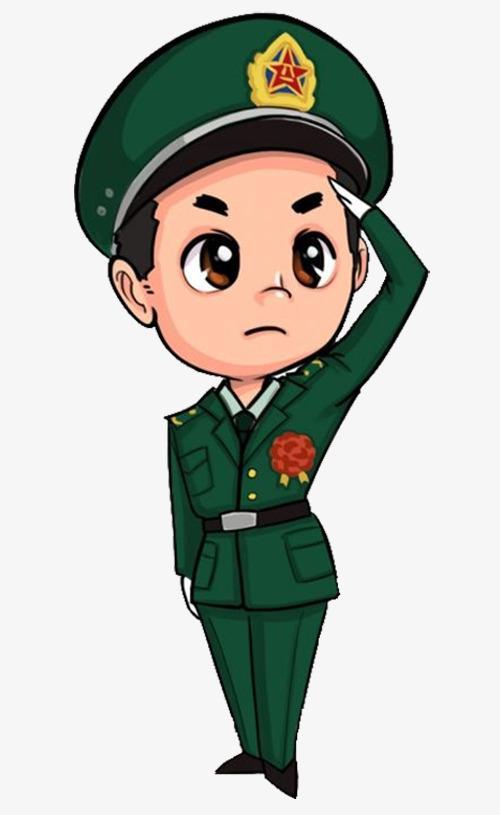 表情 军人敬礼卡通 解放军卡通 敬礼表情包 敬礼的军人简笔画画 男人喔 表情