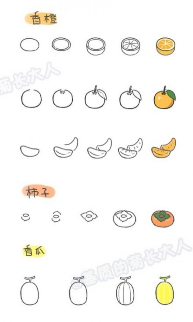 表情 蔬菜水果简笔画大全图片可爱蔬菜水果怎么画常见蔬菜水果的简笔画画法 2  表情