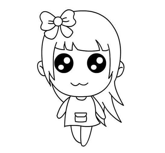图片卡通萌女孩简笔画 12张 可爱图片 表白图片网 表情