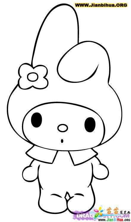 表情 小兔子简笔画的画法4张 表情