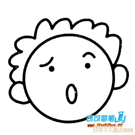 表情 幼儿人物头像简笔画,幼儿人物头像的简笔画画法 人物简笔画 ertongzy.com 表情