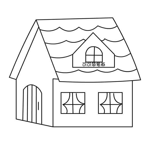 表情 儿童简笔画教程,冬天的小房子简笔画 画画大全 表情