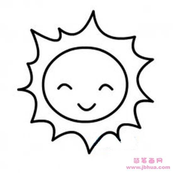 表情 超萌可爱太阳简笔画图片 简笔画网 表情