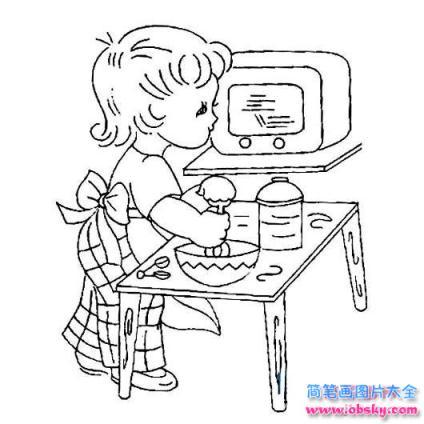 么画庆五一 爱劳动的小男孩简笔画的教程 五一劳动节简笔画 儿童简 ..