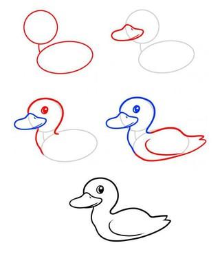 表情 幼儿数鸭子简笔画的画法,绘画图片,儿童文艺 绘艺素材网 表情