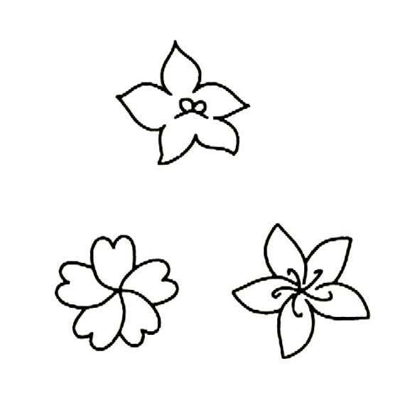表情 漂亮的五瓣花简笔画,绘画图片,儿童文艺 绘艺素材网 表情
