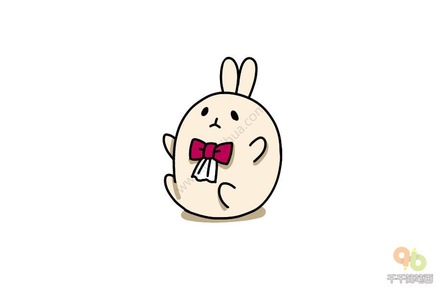 抱团子兔表情包简笔画大全千千简笔画图片教程 表情