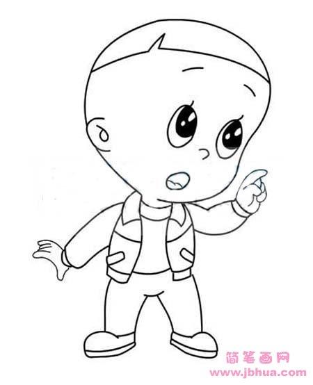 表情 幼儿园手绘大头儿子简笔画图片 简笔画网 表情