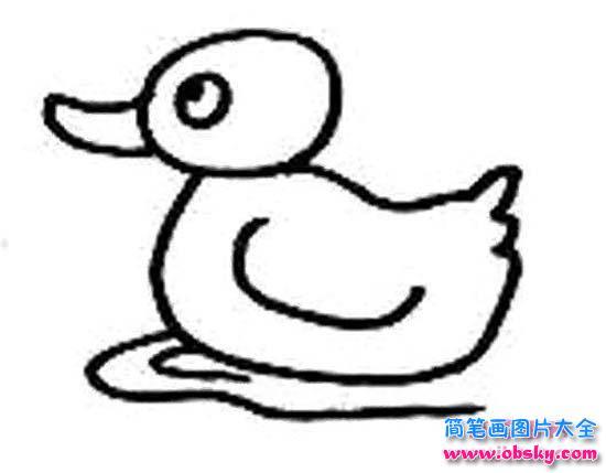 表情 小鸭子水中游简笔画图片 简笔画小鸭子 儿童简笔画图片大全 表情