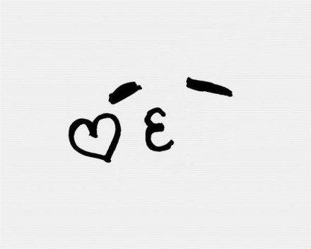 表情 简笔画 分享几个极其简单的手绘表情 简单几笔勾画可让日记 情书瞬间  表情