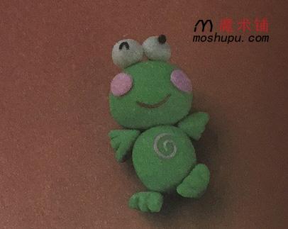 表情 太空泥作品简单好看青蛙 趣味彩泥 魔术铺 表情