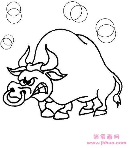 表情 牛生气的简笔画表情 牛生气的简笔画表情画法 表情